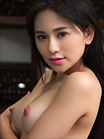 Wu Muxi exposes her perfect curves in the library